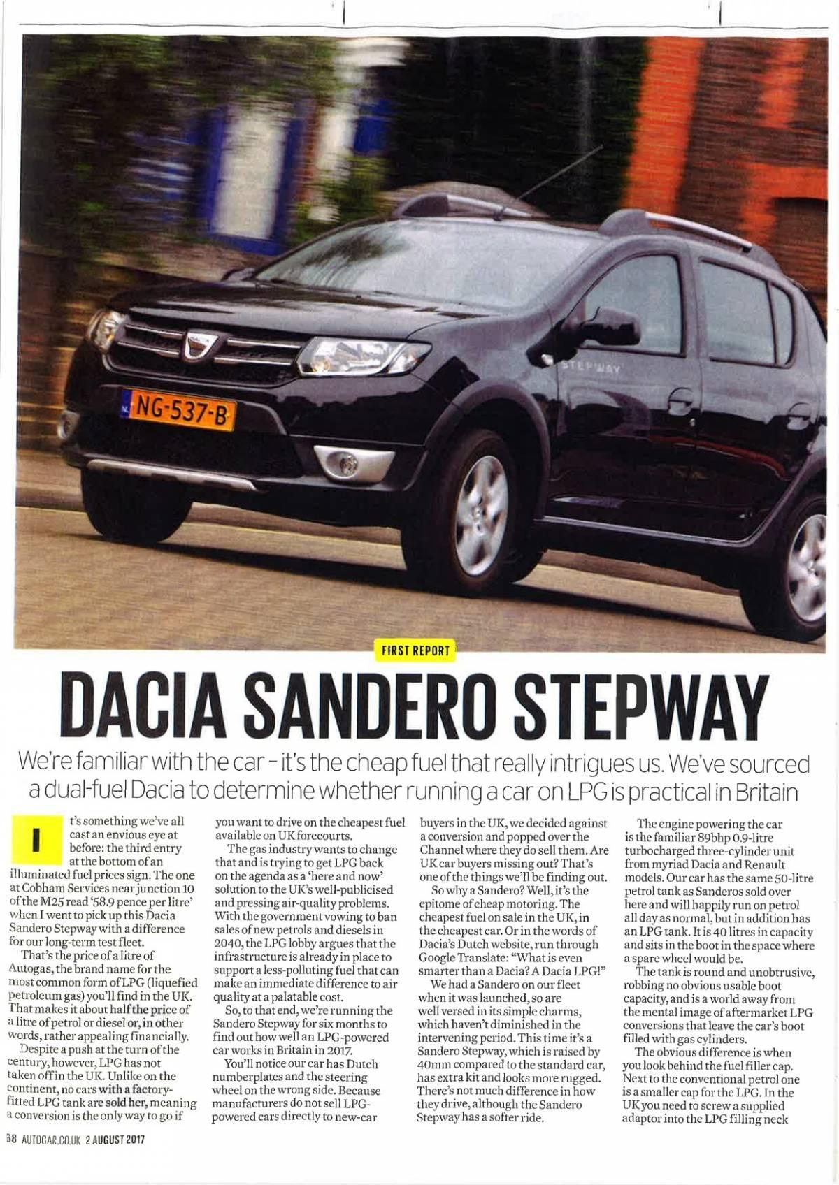 Frontpage, Dacia, LPG